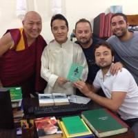 En la Biblioteca Nacional del Gobierno del Tíbet en el exilio (Dharamsala, India)