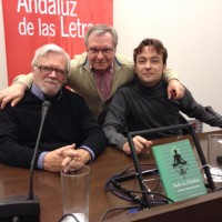 En el Centro Andaluz de las Letras, con Rafael Ballesteros y A. Moreno Ayora