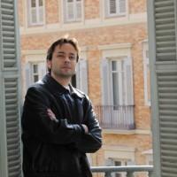 Entrevista en la sede del diario Málaga Hoy (© Javier Albiñana)