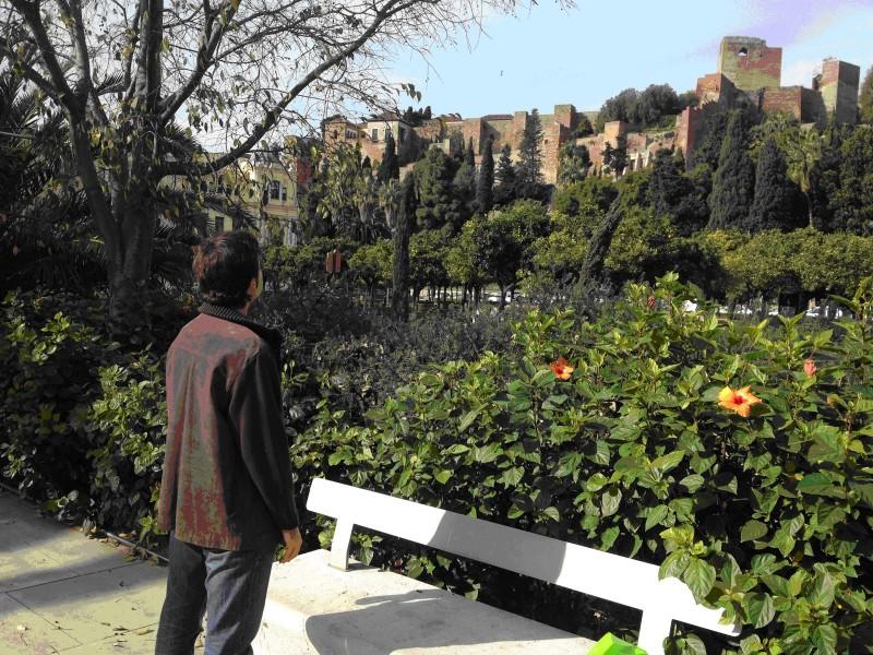 Mirando a la Alcazaba de Málaga